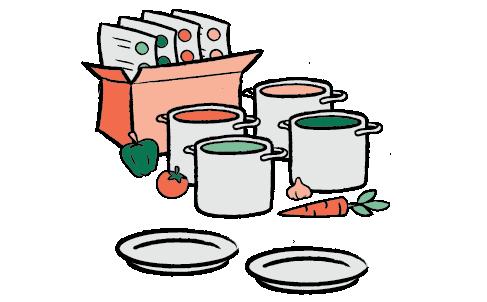 četiri recepta za dvoje