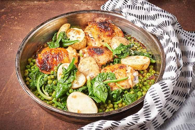 Piletina-s-medom-senfom-i-proljetnim-povrćem